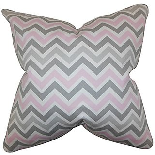 The Pillow Collection P20-pp-zoomzoom-bella-twill-c1 Howel Zigzag Pillow, Twill, 20