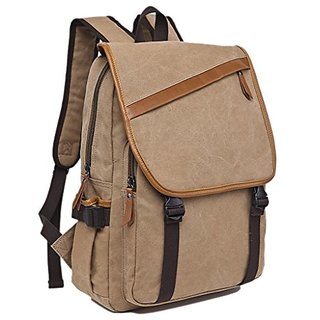 330a6754a8 ZUOLUNDUO Vintage Canvas College Backpack School Bag Laptop Backpack Travel  Bag M8616SJ