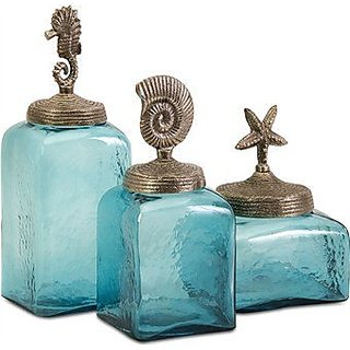 IMAX 20046-3 Sea Life Canister, Set of 3