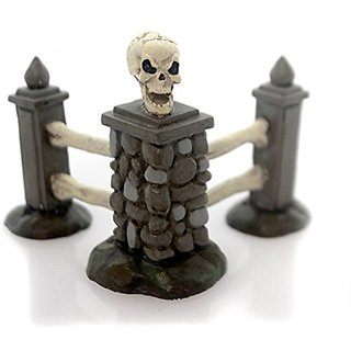 Department 56 Halloween Village Boneyard Corner Fence Accessory 2.24 In