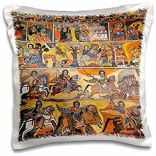 3dRose pc_131648_1 Debre Berhan Selassie Church In Gonder, Ethiopia Af16 Mzw0413 Martin Zwick Pillow Case, 16
