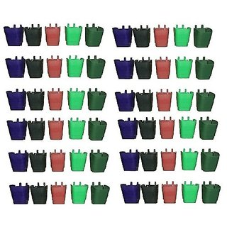 VERTICAL WALL HANGING POT PACK OF 60 (MULTI COLOR) - MINERVA NATURALS