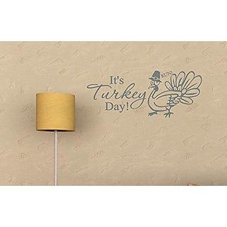 Vinylsay M.Dark Grey-55x22.5-T.0005Its Its Turkey Day! Thanksgiving Wall Dcor, 55-Inch x 22.5-Inch, Matte Dark Grey