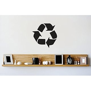 Design with Vinyl 2 Zzz 440 Recycle Symbol Logo Go Green Sign Image Wall Decal Sticker, 16 x 16-Inch, Black