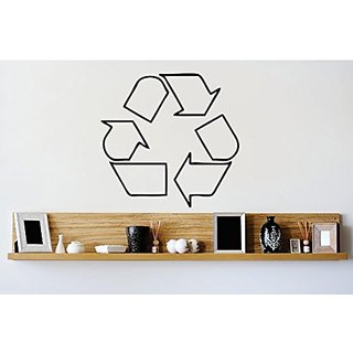Design with Vinyl 2 Zzz 419 Recycle Symbol Logo Go Green Sign Image Wall Decal Sticker, 16 x 16-Inch, Black