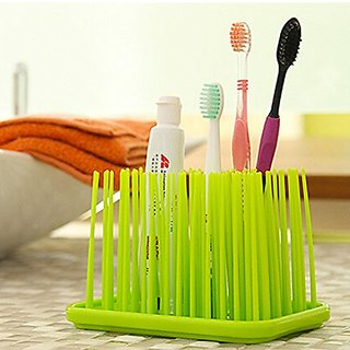 Easyinsmile Creative Household Products Grass Organizer Desk Desk Toothbrush Toothpaste Pen Holder (green )