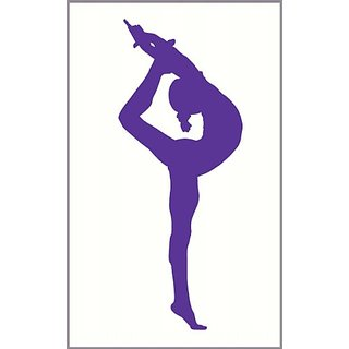 Wall Decor Plus More WDPM2491 Stretching Gymnast Girls Wall Art Sticker, 23x9-Inch, Purple