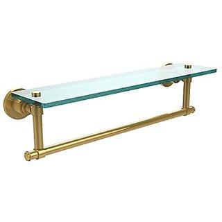 Allied Brass WS-1TB/22-PB Glass Shelf with Towel Bar, 22-Inch x 5-Inch