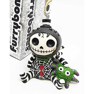 Furrybones Cute Itsy Bitsy Spider Webster Skeleton Monster Ornament Figurine