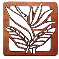Bird Of Paradise Laser Cut Wood Coasters Set Of 4