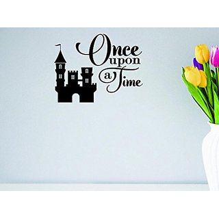 Design with Vinyl Moti 1624 1 Once Upon A Time Queen King Fairy Tale Castle Prince Princess Love Peel & Stick Wall Stick