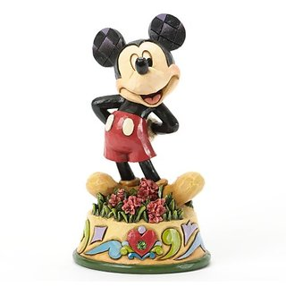 Jim Shore for Enesco Disney Traditions Mickey August Figurine, 4.05-Inch