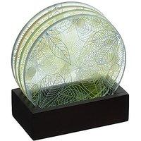 Swing Design Folia Round Coasters With Tray, Set Of 4