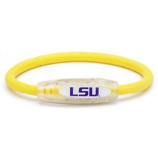 NCAA LSU Tigers Active Wristband, Yellow, Small