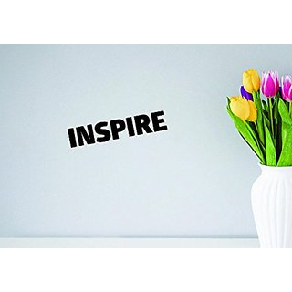 Design with Vinyl Moti 1657 2 Inspire Text Lettering Life Quote Peel & Stick Wall Sticker Decal, 12