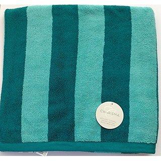 Charisma Resort Beach Towel (Light Green & Dark Green Stripe) 35 in x 70 in