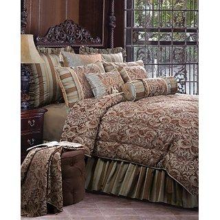 Jennifer Taylor 4 Pcs Comforter Set,Twin Size, VELLORE Collection