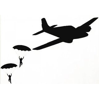 Dailinming PVC Wall Stickers Wall Sticker Decal Quote Vinyl Parachute Guys Army Plane Boys Room Decor Wall Decal 46X91CM