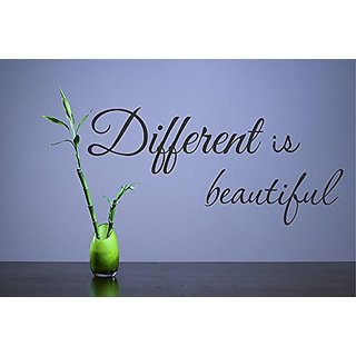 Different is beautiful Vinyl Wall Decals Quotes Sayings Words Art Decor Lettering Vinyl Wall Art Inspirational Uplifting