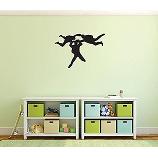 Design with Vinyl 1 Pro 97 Decor Item Skydiving Fun Venturous Wall Decal Peel and Stick Sticker Mural, 10 x 15-Inch, Bla