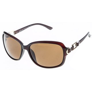 VELOCITY P91262 BROWN BROWN WOMEN'S POLARIZED SUNGLASSE FREE KIDS SUNGLASSES