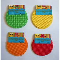 4 Multi-Colored Sets Of Waffle Sponge Coasters (24 Total)