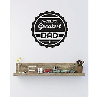 Design with Vinyl 4 C 2395 Decor Item Worlds Greatest Dad Image Quote Wall Decal Sticker, 18 x 18-Inch, Black