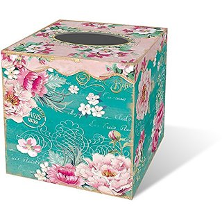 Punch Studio Lovely Letters Tissue Box Cover