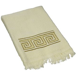 Avanti Linens Greek Key Fingertip Towel, Ivory