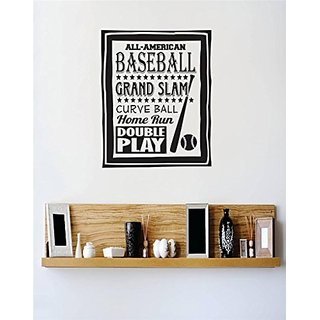 Design with Vinyl 3 C 2226 Decor Item All American Baseball Grand Slam Curve Ball Home Run Double Play Sports Image Quot