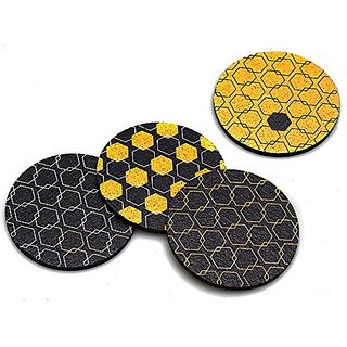 Flox Honeycomb Hex Rubber Coasters