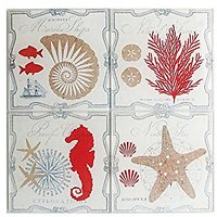American Atelier Pacific Coasters With Caddy (Set Of 4), Multicolor