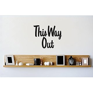 Design with Vinyl 1 Zzz 466 Decor Item This Way Out Quote Wall Decal Sticker, 12 x 12-Inch, Black