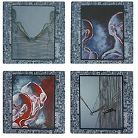 Ceramic Coasters For Drinks Set Of 4
