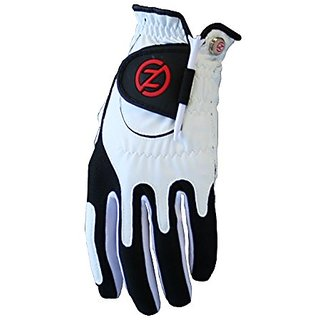 Zero Friction Mens Universal Fit Glove With Ball Marker, White Black