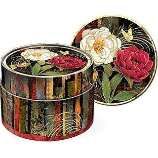 Set of 12 coaster in keepsake box - Beautiful Twilight Roses 56128 by Punch Studio