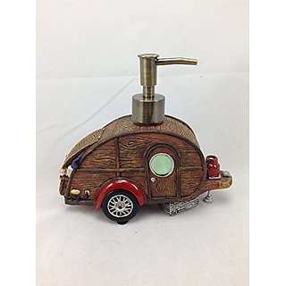 Liquid Soap Dispenser, Vintage Teardrop Camper Trailer Rv, 6.5-inch