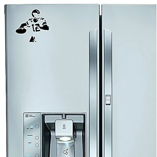 StickAny Kitchen Appliance Series Quarterback Sticker for Refrigerators, Dishwashers, and More! (Black)
