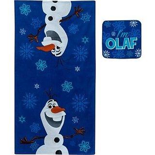 Disney Olaf the Snowman Bath Towel and Wash Cloth