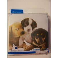 Westport Collection Dog Themed Cork-backed Coasters ~ Dog Medley (Set Of 4 Coasters)