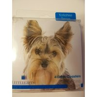 Westport Collection Dog Themed Cork-backed Coasters ~ Yorkshire Terrier (Set Of 4 Coasters)