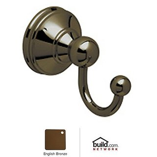 Rohl U.6621EB C7673Phtcb U.6621 Georgian Era Single Hook Robe Hook, English Bronze