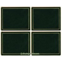 Lady Clare Bottle Green/Gold Line Coasters - Set Of 4