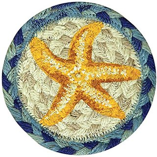 Earth Rugs 31-IC378SF Star Fish Round Printed Coaster, 5