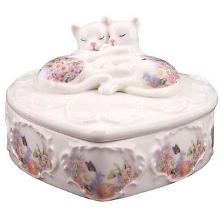 Kitty Kats Sleeping Cats Trinket Box