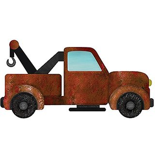 My Wonderful Walls Tow Truck Wall Sticker Decal for Boys Room, Right-Facing, Brown/Black