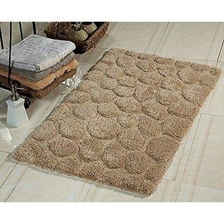Saffron Fabs GSF 200 Pebbles Pattern Bath Rug, 34-inch x 21-inch, Beige