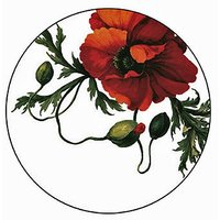 Caskata Studio 12 Count Paper Coasters In Box, Red Papaver