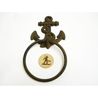 All new item New cast iron anchor nautical towel ring