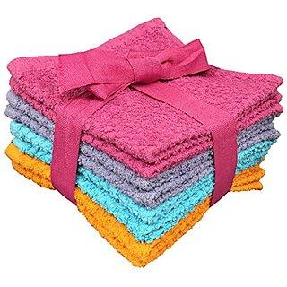 8 Pk Terry Popcorn Weave Washcloths 12